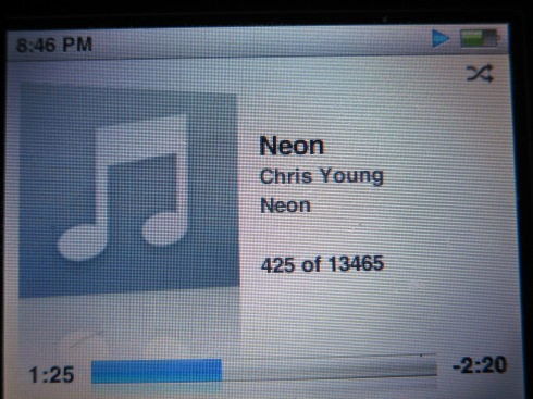 "Chris Young - ""Neon"" IPod"