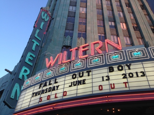 fall out boy wiltern exterior