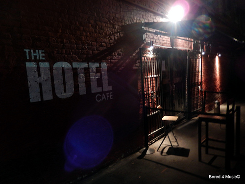 The Hotel Cafe Exterior-Bored-4-Music