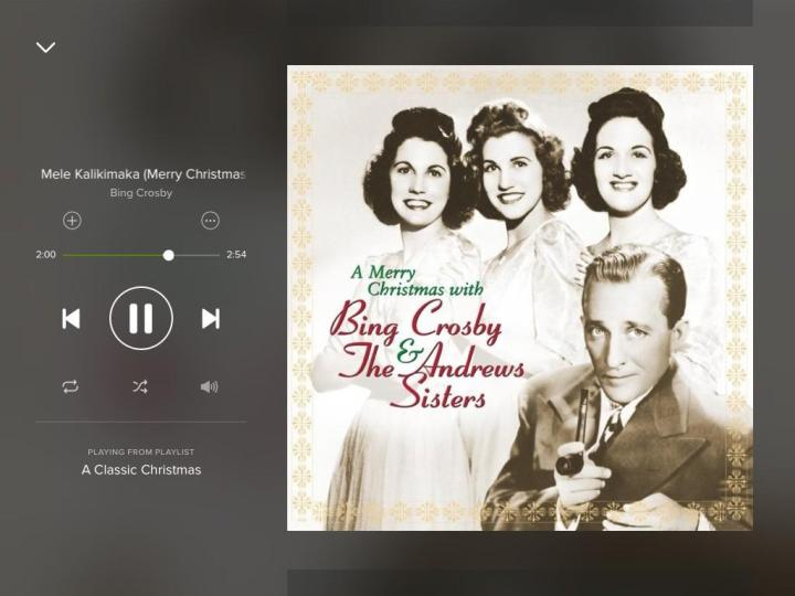 mele-kalikimaka-bing crosby-spotify-screenshot
