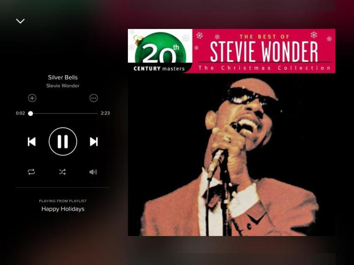 stevie-wonder-silver-bells-spotify-screenshot