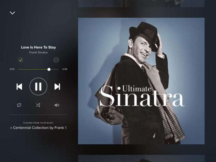 Frank-Sinatra-Love-Is-Here-To-Stay-Spotify-Screenshot